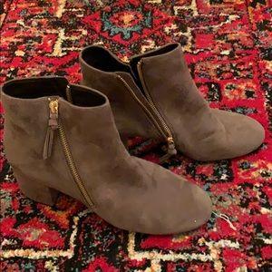Never worn Cole Haan suede dark gray booties